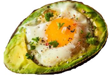 Avocado with Eggs en Cocotte
