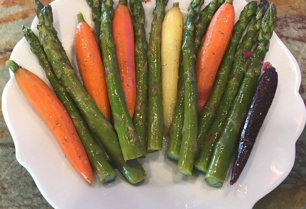 Asparagus and Carrot Spears with Lemon Vinaigrette