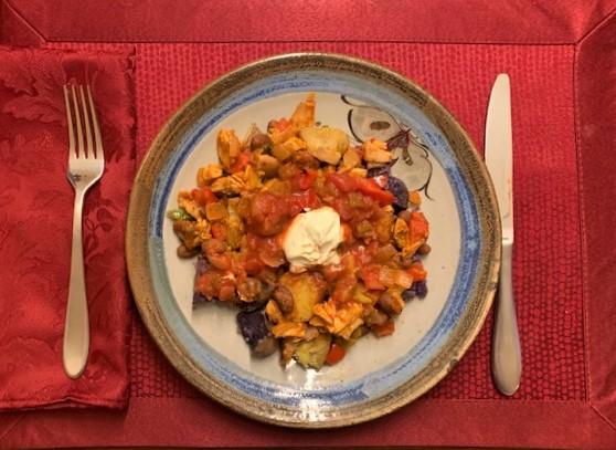 Turkey Chili with Baked Potato