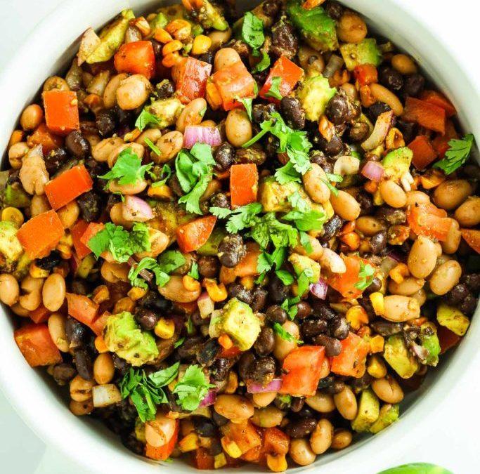 Healthy Southwest Avocado Bean Salad